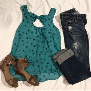 Tops - High low anchor tank